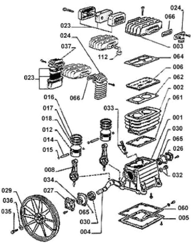 Компрессорная головка B 2800