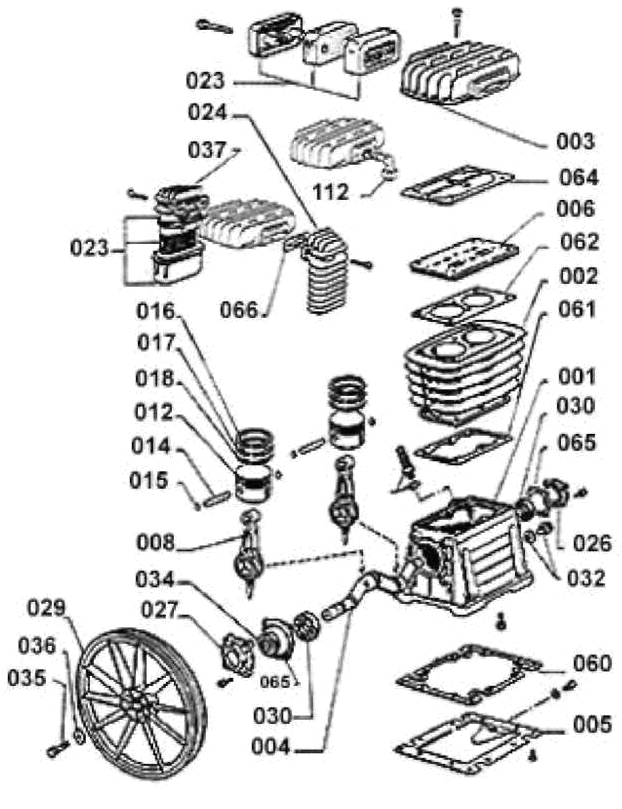Компрессорная головка B 3800
