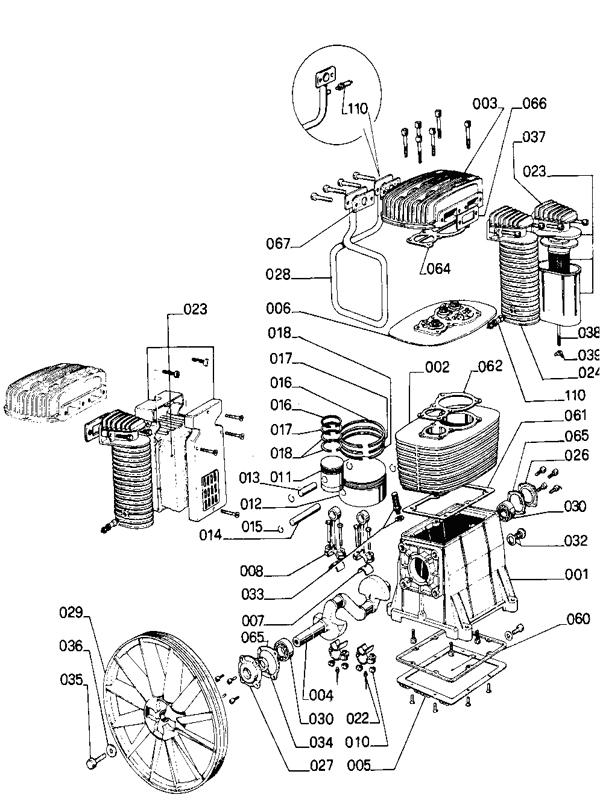 Компрессорная головка B 6000