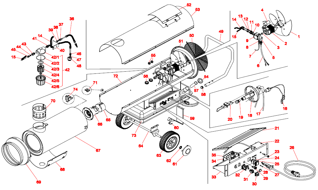 схему тепловой пушки sial